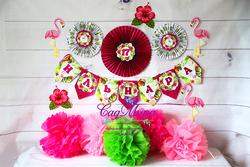 День рождения в стиле Тропики - Фламинго
