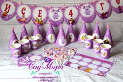 День рождения в стиле Лунтик (розовый)