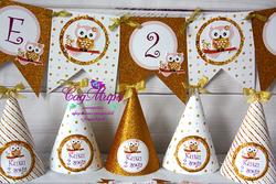 День рождения в стиле Золотые совушки