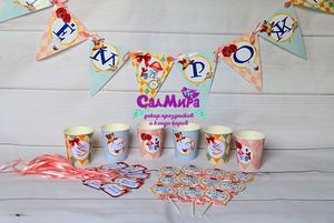 Новый дизайн атрибутики для украшения дня рождения в стиле Алиса в Стране Чудес